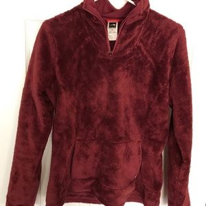 Fuzzy half zip sweatshirt